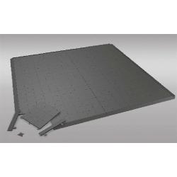 Podlaha plastová (blok 0,5x0,5 m) - šedá