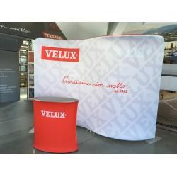 RED OVAL promo textilný stolík