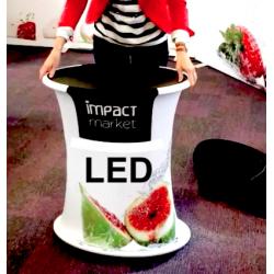 RED BIG QUICK - LED svetelný promo textilný stolík