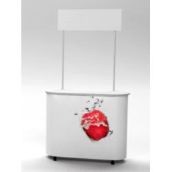 RED ELYPSE PVC promo stolík