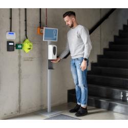 DEZI - Reklamný stojan s bezdotykovým dávkovačom