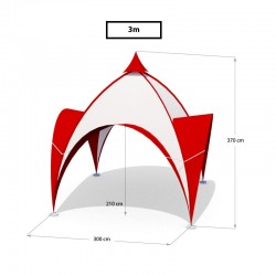 Stan DOME 3x3m (4 nohy)