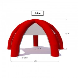 Nafukovací stan IGLU 6,3m (5 nôh)