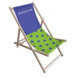 Lehátko plážové, drevené s potlačou