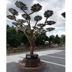 BatterLand solárny STROM Large, nabíjacia lavička, osvetlenie