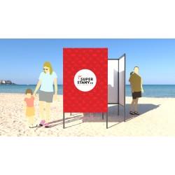 Garden CHANGE plážová prezliekáreň / reklamná potlač