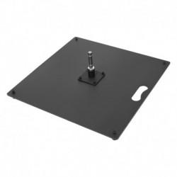 Oceľová platňa s rotátorom 15kg, 50x50cm