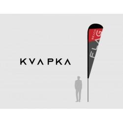 Vlajka KVAPKA (s tlačou, bez kotvenia, taška)